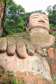 large  budga statue in Leshan, Sichuan, China