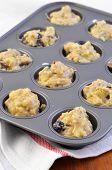 Banana Blueberry Muffin Dough