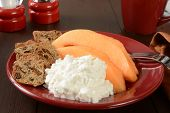 Cantaloupe And Cottage Cheese