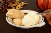 Pumpkin Scones And Vanilla Ice Cream