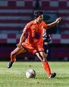 Sisaket Thailand-september 21: Tadpong Lar-tham Of Sisaket Fc. In Action During Friendly Match Betwe