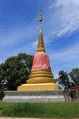 stupa at Wat Rom Pho Manotham
