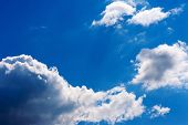 Beautiful View On Blue Sky And Clouds.