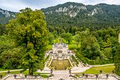 View At The Linderhof Castle