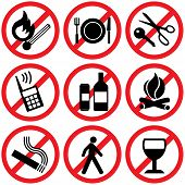 Prohibited icons