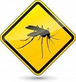 Beware Mosquitos Sign