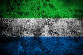 image of freetown  - grunge flag of Sierra Leone with capital in Freetown - JPG