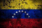 Grunge Flag Of Venezuela With Capital In Caracas