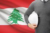 Architect With Flag On Background  - Lebanon