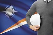 Architect With Flag On Background  - Marshall Islands