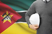 Architect With Flag On Background  - Mozambique