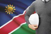 Architect With Flag On Background  - Namibia