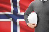 Architect With Flag On Background  - Norway