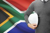 Architect With Flag On Background  - South Africa