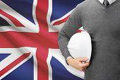 Architect With Flag On Background  - United Kingdom