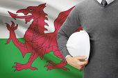 Architect With Flag On Background  - Wales