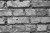Dirty Old Brick Wall Black And White