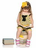 Clever Little Girl Reads