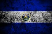 Grunge Flag Of El Salvador With Capital In San Salvador