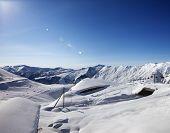 Ski Resort At Sun Day