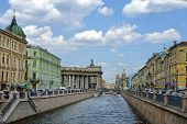 Historical Part Of Saint Petersburg, Russia