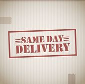 Same day delivery stamp