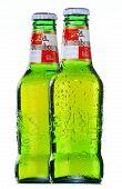 Bottles Of Kronenbourg Beer Isolated On White