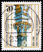 Postage Stamp Germany 1985 Stucco Column, By Dominikus Zimmermann