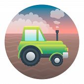 Tractor Detailed Illustration