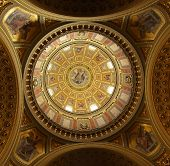 Ornate dome architecture, St. Stephen's Basilica, Budapest