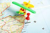 Aberdeen  Scotland; Great Britain Map Airplane