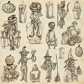 Halloween, Jack O Lantern - An Hand Drawn Vector Pack