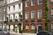 Mayfair town houses, center of London