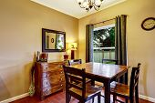 Dining Furniture Set In Ivory Room With Window