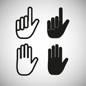 Hand icons, vector