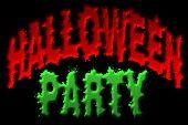 Halloween Party Title Art
