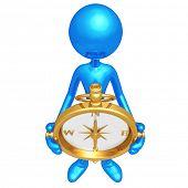 Holding A Golden Compass