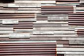 Wood And Galvanized Iron Material Background For Vintage Wallpaper