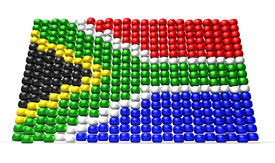 picture of zulu  - A traditional zulu beaded south african flag on an isolated background - JPG