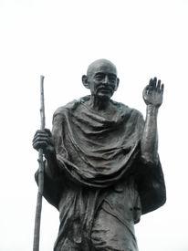 stock photo of gandhi  - Statue of Ghandi in the embarcadero center San Francisco California - JPG