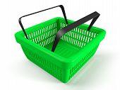 Green Shopping Basket
