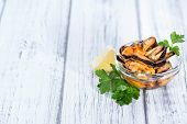 Grilled Mussels (pickled In Oil)