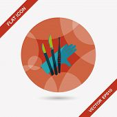 image of surgical instruments  - Surgical Instrument Flat Icon With Long Shadow - JPG