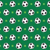 Football Or Soccer Pattern.