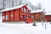 Log house in the guest complex