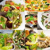 Healthy And Tasty Italian Food Collage