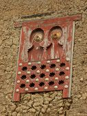 African decorative window