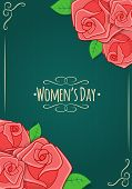 Eight 8 of March, Women Day background.