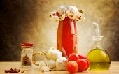 Home Made Tomato Sauce With Ingredients