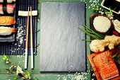 foto of gourmet food  - Asian food background  - JPG
